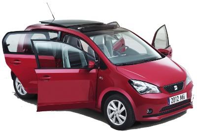La cousine espagnole de la Volkswagen Up! est la Seat Mii. Les faces avant et arrière sont modifiées. Si la partie avant est élégante, la partie arrière est complètement ratée, très peu valorisante..